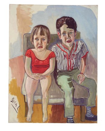 Abe's Grandchildren by Alice Neel