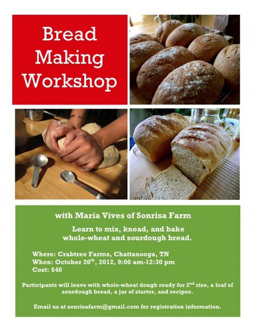 wholewheat breadmaking workshop