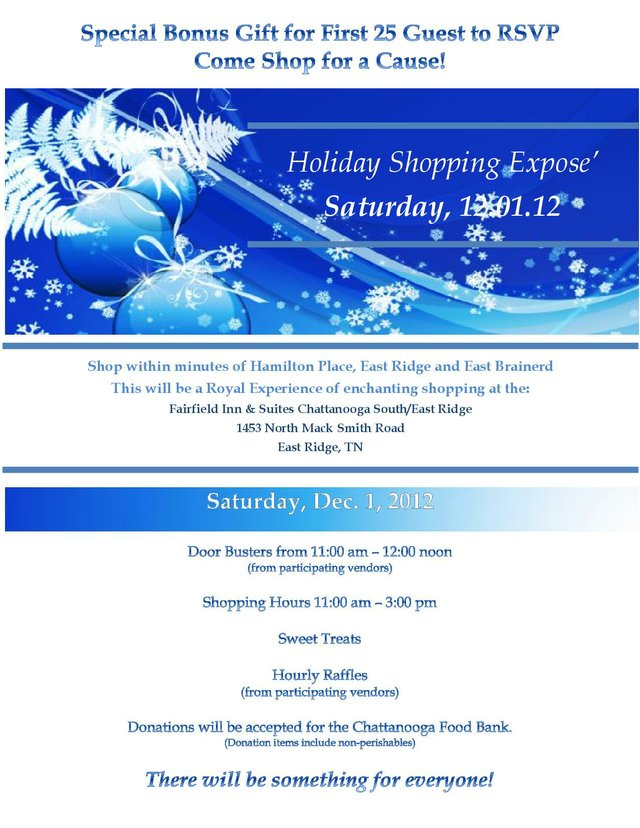 Holiday Shopping Expose