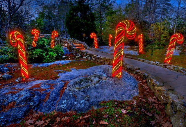 Rock City's Enchanted Garden of Lights 2