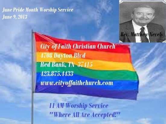 COFCC Pride Month Worship Service