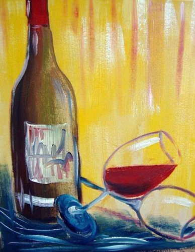 """Painting Workshop: """"Wine With Glass"""""""