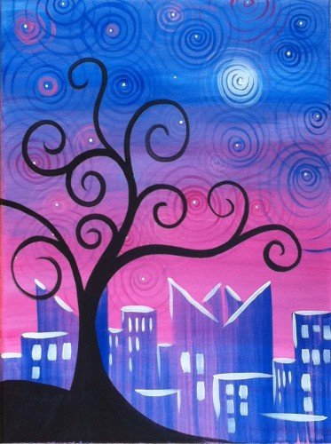 """Painting Workshop:""""Whimsical Evening"""""""