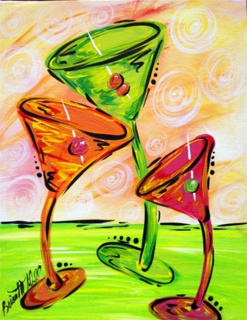 "Painting Workshop: ""Taco Thursday - Funky Martini"""