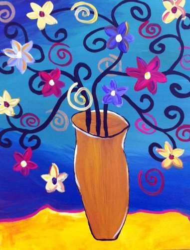 "Painting Workshop: ""Swirly Plant"" - Family Night"