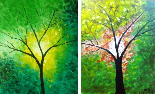 """Painting Workshop: """"Green Tree"""" or """"Fall Tree"""""""