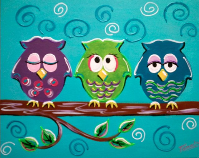 "Painting Workshop: ""Funky Owls"""