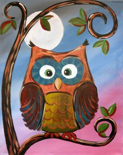 """Painting Workshop: """"Wise Old Owl"""""""