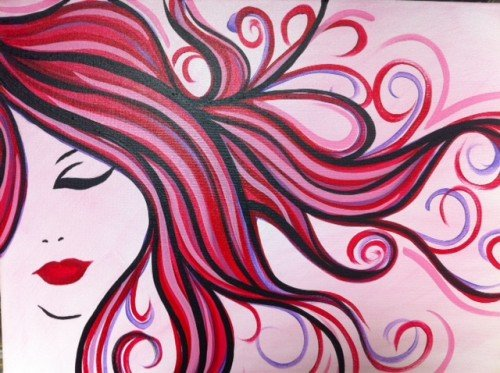 Painting Workshop: Pink Hair