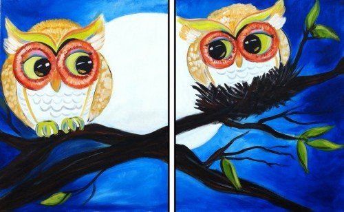 Painting Workshop: Night Owls--Date Night