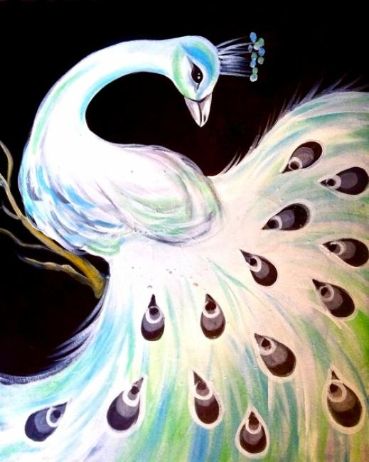 Painting Workshop: White Peacock