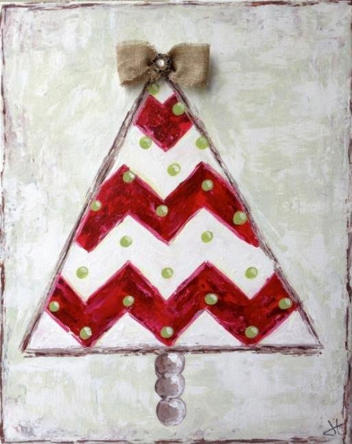 Painting Workshop: Burlap Christmas Tree