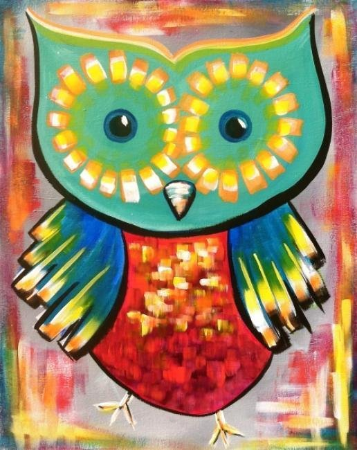 Painting Workshop: Retro Owl