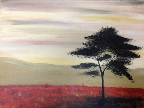 Painting Workshop: Lonely Tree in Fall