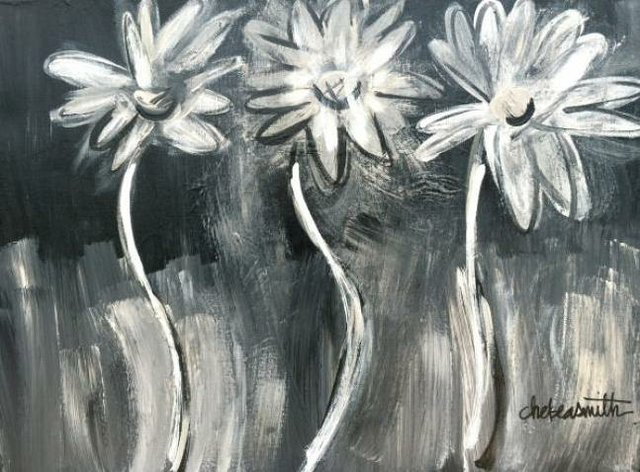 Painting Workshop: Three Daisies