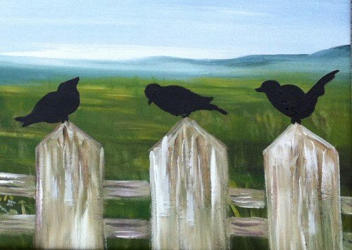 Painting Workshop: Crows on a Fence