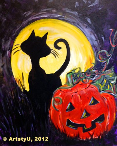 Painting Workshop: Black Cat and Jack - Decorate for Halloween