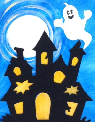 Painting Workshop: Haunted House - Family Night