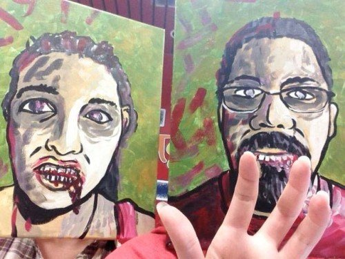 Painting Workshop: Halloween Party - Zombie Self Portraits