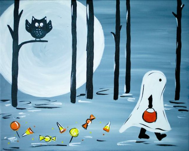 Painting Workshop: Halloween Week! Ghost and Candy