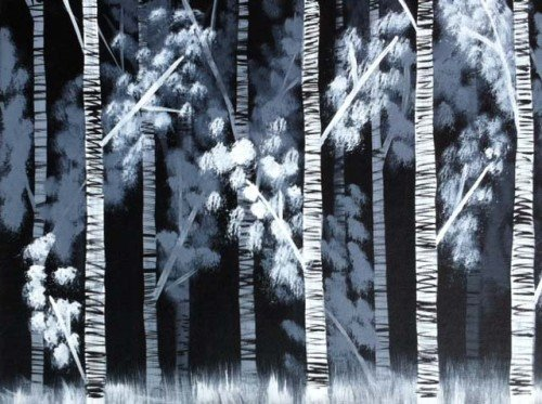 Painting Workshop: Black and White Forest