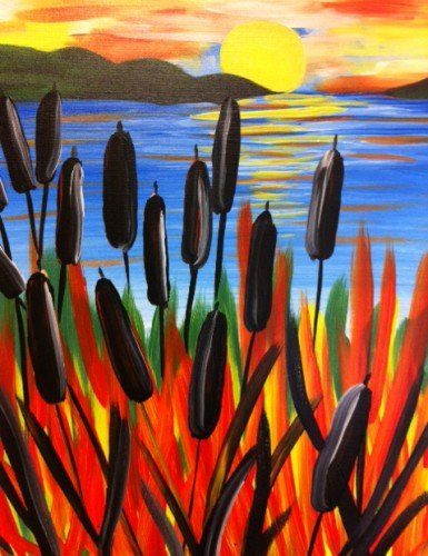 Painting Workshop: Sunset Cattails