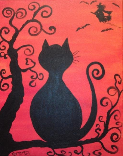 Painting Workshop: Halloween Week! Halloween Cat