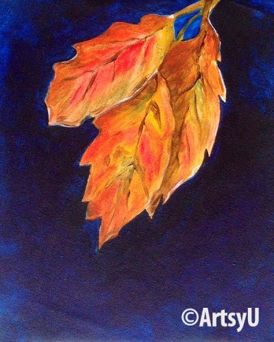 Painting Workshop: 3 Leaves (Family Night)