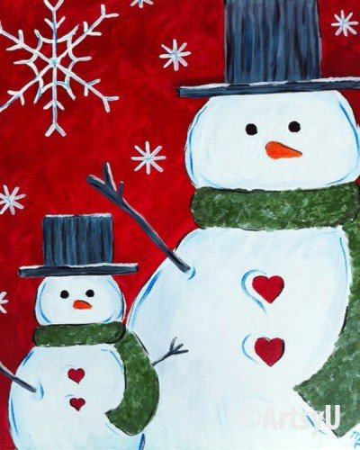 Painting Workshop: Snowmen