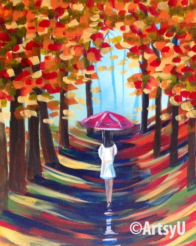 Painting Workshop: Walking in the Rain