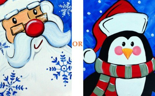 Painting Workshop: Santa or Penguin