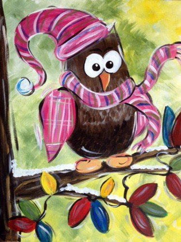 Painting Workshop: Owl with Scarf