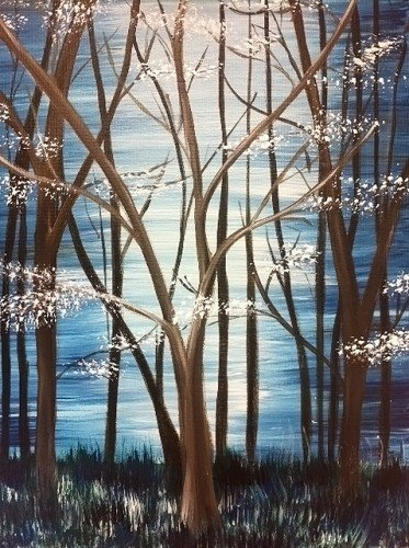 Painting Workshop: Blue Forest