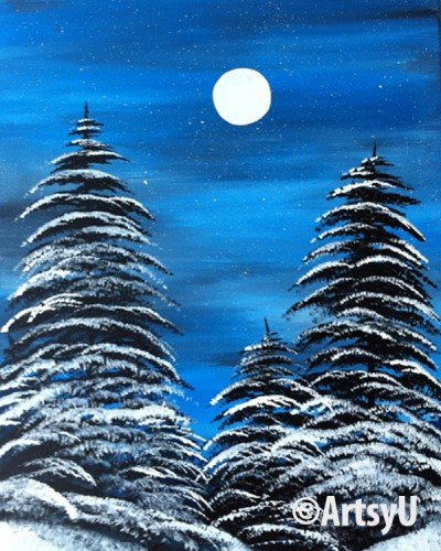 Painting Workshop: Snowy Night