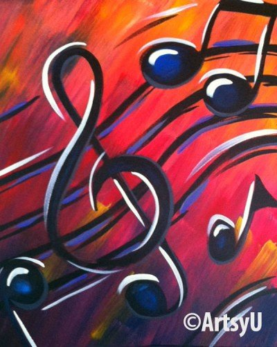 Painting Workshop: Music Notes