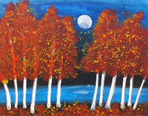 Painting Workshop: Crayon Forest