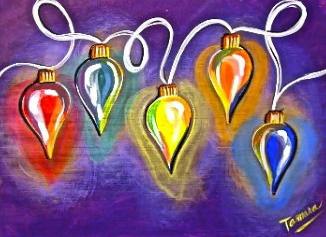 Painting Workshop: Funky Christmas Lights