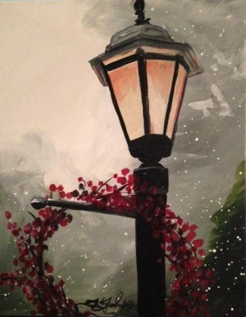 Painting Workshop: Winter Lamp Post
