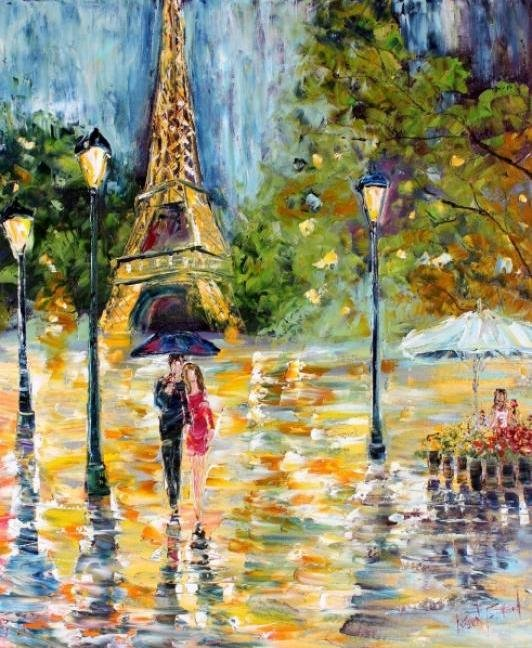 Painting Workshop: Karen Tarlton's Paris Rain