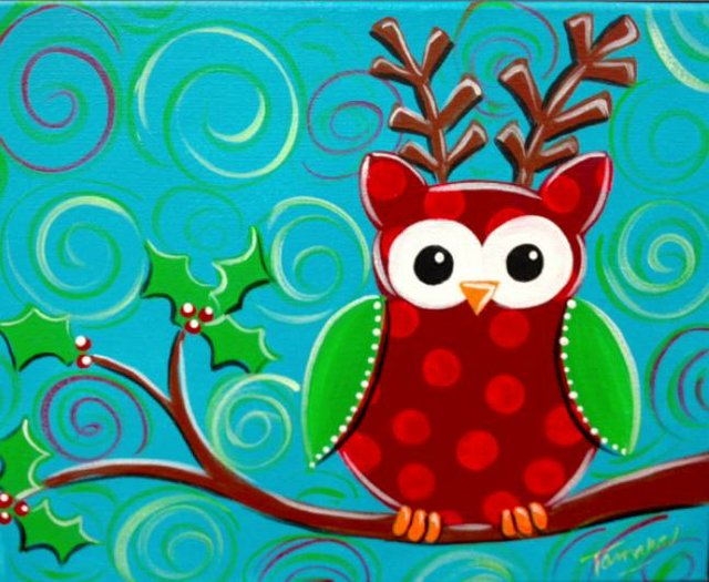Painting Workshop: Christmas Owl