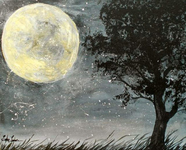 Painting Workshop: Full Moon