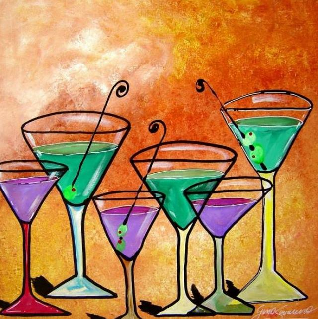 Painting Workshop: Martinis by Gino Savarino