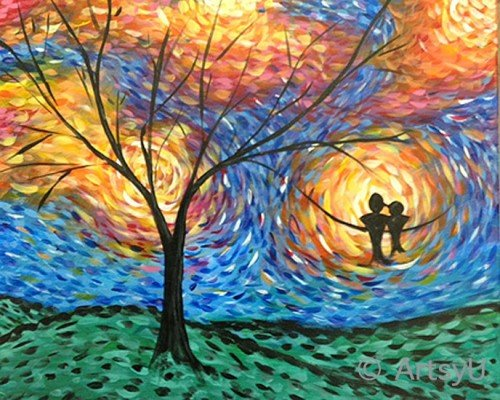 Painting Workshop: VanGogh Tree