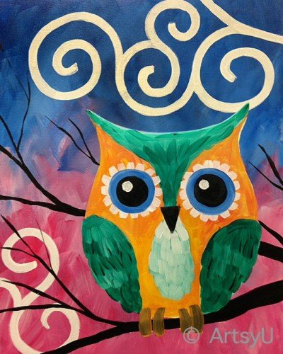 Painting Workshop: Jade Owl