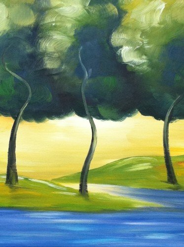 Painting Workshop: Three Trees