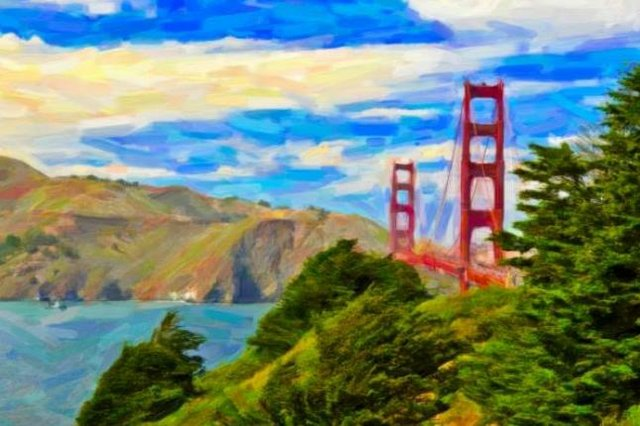 Painting Workshop: Golden Gate Bridge