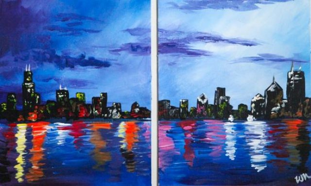 Painting Workshop: Skyline - Couples Painting