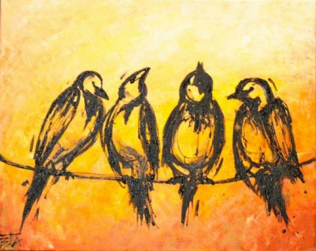 Painting Workshop: Birds on a Wire