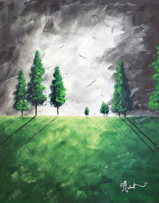 Painting Workshop: Green Pastures - Original by Megan Duncanson©