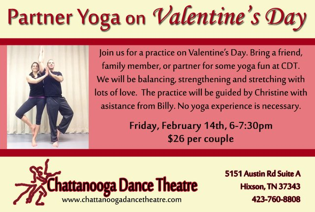 Partner Yoga for Valentine's Day